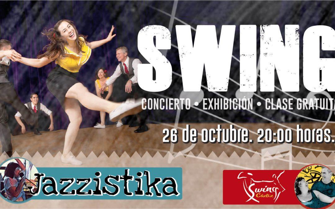 Swing en Bahia Mar con la actuación de Jazzistika y baile con Bailar Swing Cádiz